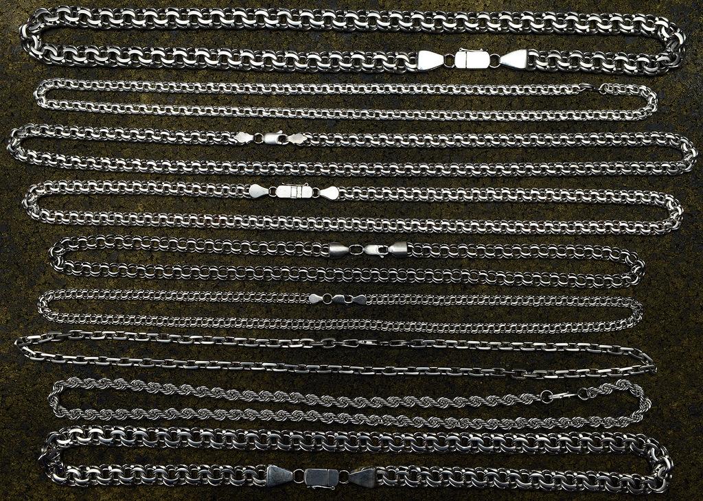 Мужские цепи из серебра