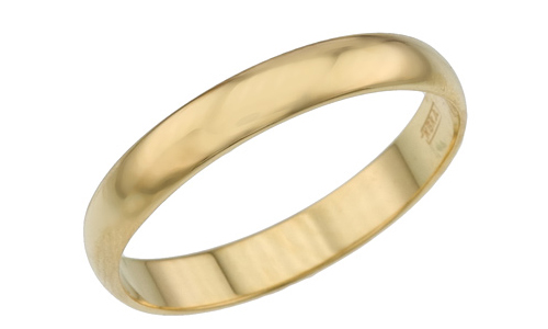 Классическое обручальное кольцо 750 пробы