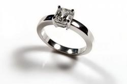 Серебряное кольцо с черным радированием