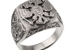 Печатка из серебра с гербом