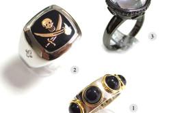 Перстень-печатка серебро 925 пробы черный оникс с 18-каратным золотым напылением