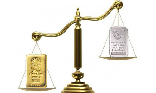 Серебро и золото на весах