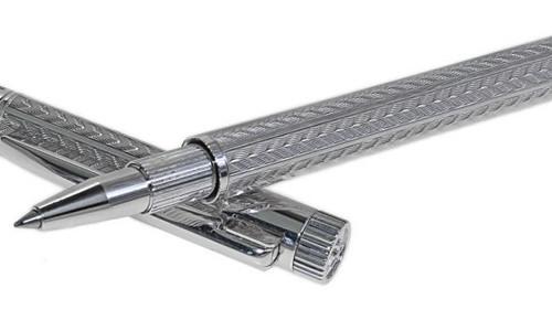 Сувенирная серебряная ручка