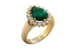 Золотое кольцо 750 пробы с бриллиантом