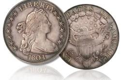 Серебряный доллар 1804 года.
