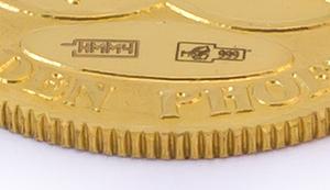 Именник на золотой монете