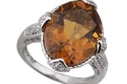 Кольцо 925 пробы с бриллиантом