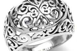 Кольцо из филигранного серебра
