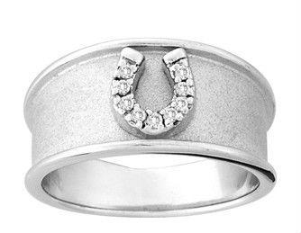 Кольца из серебра с подковой.