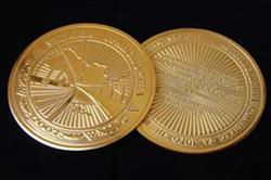 Монеты с гальванической позолотой