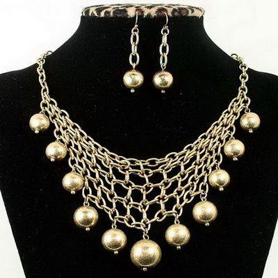 Ювелирные украшения из позолоченного серебра