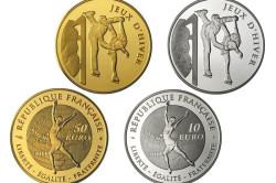 Памятные монеты Франции - «Фигурное катание»