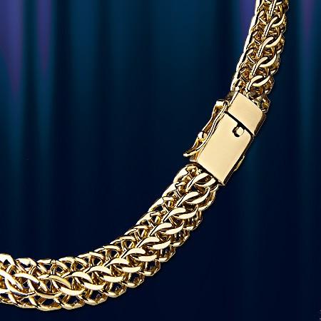 Панцирное плетение цепи