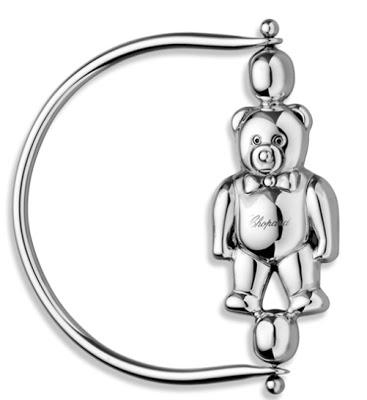 Серебряная погремушка в виде медведя