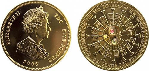 Серебряные монеты с позолотой