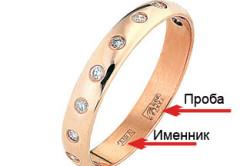 Где смотреть пробу и именник на ювелирном кольце.