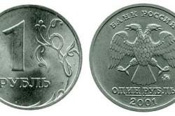 Рубль 2001 года
