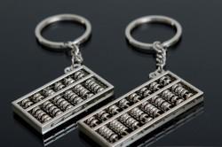 Серебряные брелоки счеты