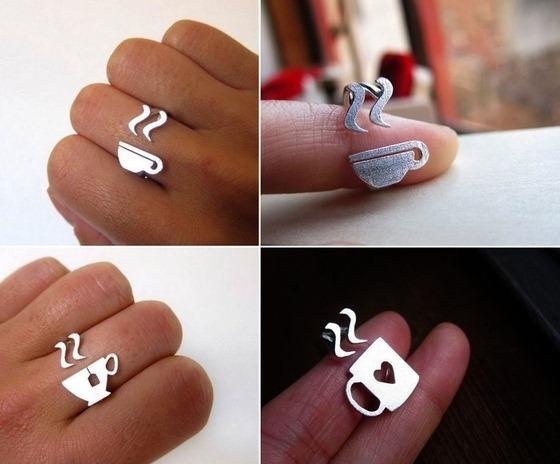 Креативные серебряные кольца