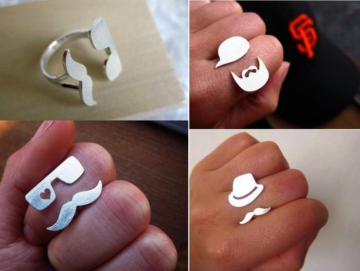 Креативные кольца из серебра