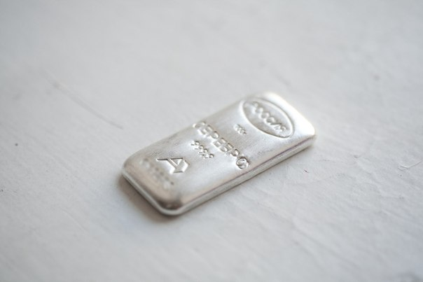 Серебро 999,9 пробы.