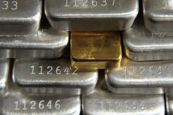 Серебряные и золотые слитки