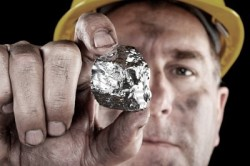 Серебро в виде самородка