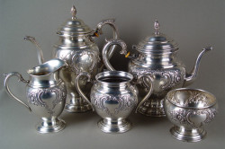 Виды серебряной посуды