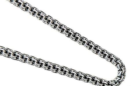 Серебряная цепь с плетением бисмарк