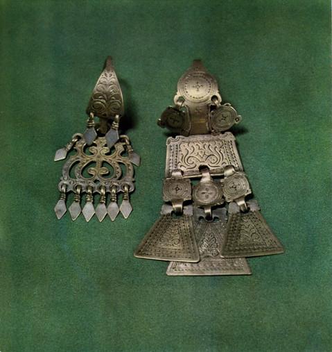 Серьги из якутского серебра