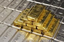 слитки из золота, серебра и меди