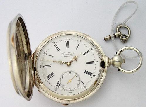 Старинные серебряные часы