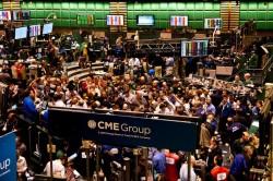 Разгар торгов на бирже