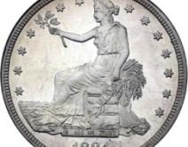 Американский торговый доллар.