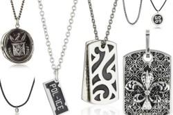 Серебряные мужские цепочки с подвесами