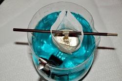 Конструкция электролитической ванны с раствором из нитрата серебра