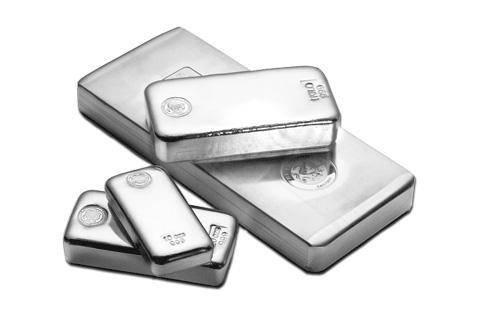 Размеры серебряных слитков