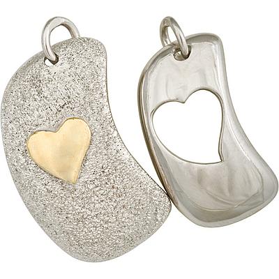Серебряные кулоны для двоих.