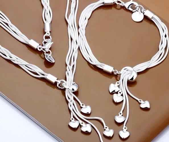 Набор серебряных украшений 925 пробы из Китая