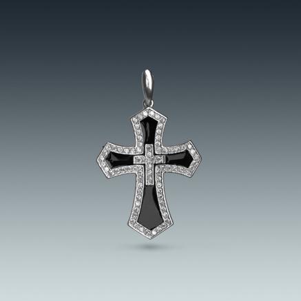 Серебряный кулон в виде креста