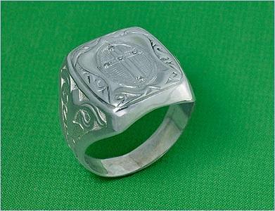 Печатка из сплава серебра