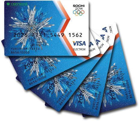 Дизайн карты VISA Сбербанка России