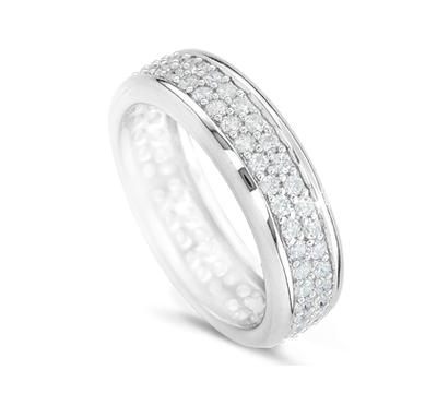 Кольцо из серебра с драгоценными камнями