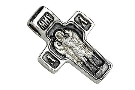 Крест из серебра Спас Нерукотворный