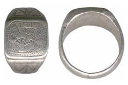 Серебряный перстень-печатка