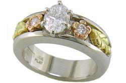 Кольцо из серебра и золота
