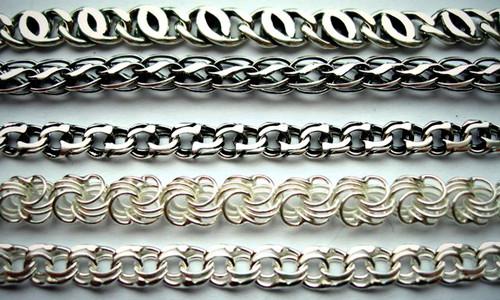 Виды плетения серебряных цепочек