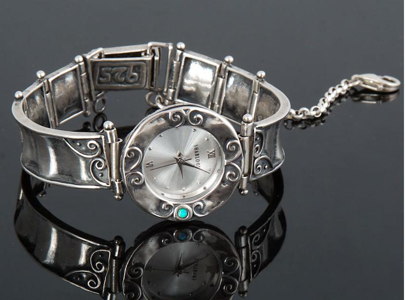"""Серебряные часы """"Лунник"""""""
