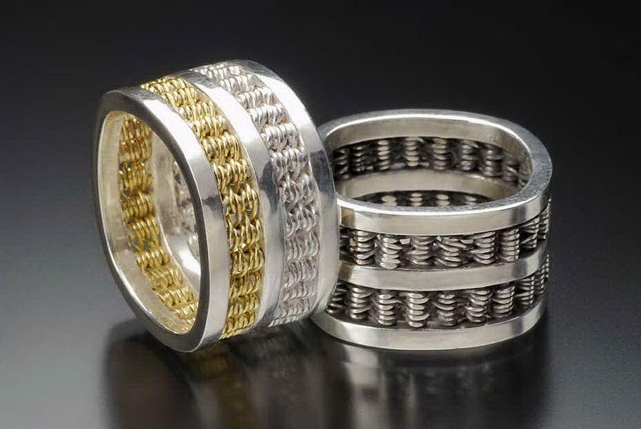 Кольца серебряные мужские