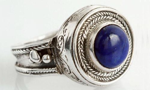 Кольцо с камнем лазурит